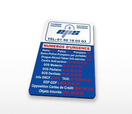 magnet publicitaire rectangle coins arrondis 40x80mm